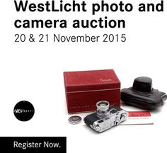 Leica: 13th WestLicht Photo Auction on Nov.20, 2015 at 6PM CET + 28th WestLicht Camera Auction on Nov.21, 2015 at 11AM CET: Bidding Via Online, Phone, Fax or Post, Live from Around the World at www.liveauctioneers.com and in Person in the Auction Room in Vienna, Austria