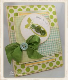 Cute idea for homemade invitations using buttons for peas