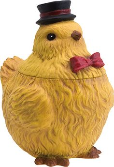Country Simplicity  Giant Chick cookie jar