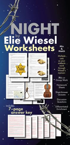 Worksheet Night Elie Wiesel Worksheets night by elie wiesel google lit trip school stuff pinterest great support for any study of wiesels haunting ww2 memoir highschoolenglish