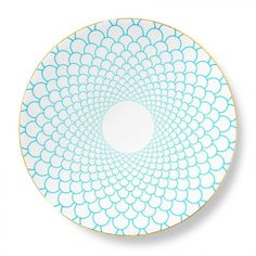 Grande Maxwell Charger 11.78 in Turquoise/Gold | Gracious Style