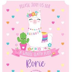 Little Mermaid Invitation. 1st Birthday Party For Girls, Mermaid Birthday, Birthday Cards, Birthday Greetings, Unicorn Invitation, Little Mermaid Invitations, Alpacas, Llama Birthday, Birthday Wallpaper