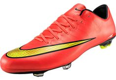 Get it at SoccerPro...Nike Youth Mercurial Vapor X FG Soccer Cleats - Hyper Punch.