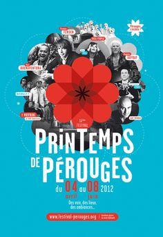 Printemps de Pérouges - Brand identity by Graphéine, via Behance