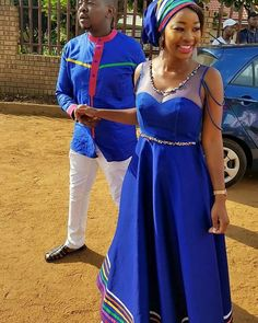 African Wedding Attire, African Attire, African Wear, African Fashion Dresses, African Dress, African Weddings, Traditional Wedding Attire, Traditional Dresses, Shweshwe Dresses