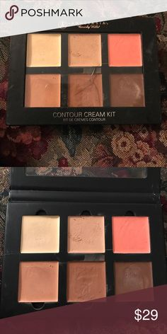 ABH Contour Cream Kit - Medium The best selling set of three highlights and three contour shades in one must-have kit. Anastasia Beverly Hills Contour Cream Kit is use to sculpt, define, and enhance bone structure and features. Product has been use twice and minor crack on the face of pallet. Shades: Banana, Cream, Warm Coral, Nude, Cinnamon, and Chocolate. Product in good condition and lightly used. Anastasia Beverly Hills Makeup Foundation