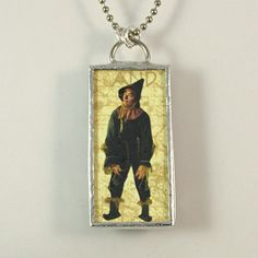 Wizard of Oz Soldered Pendant - The Scarecrow & The Tinman by XOHandworks $20
