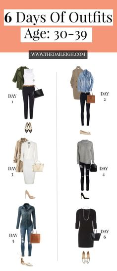 6 days outfits for age 30-39 Created by:The Dialeigh