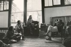 Donald Judd with students, 1974. 101 Spring Street