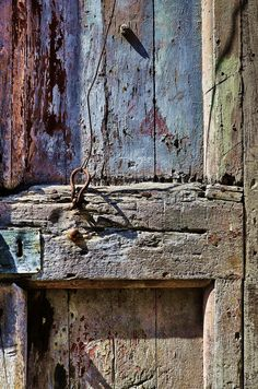 door pull in simplicity.. making do with what you got... this photograph reminds me so much of my daddy!
