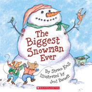The Biggest Snowman Ever by Steven Krall. Illustrated by Jeni Bassett. When the mayor of Mouseville announces the town snowman contest, Clayton and Desmond claim that they will each make the biggest snowman ever. But building a huge snowman alone is hard! They work and work, but their snowmen just aren't big enough. Soon they have an idea. As the day of the contest approaches, Clayton and Desmond join forces to build the biggest snowman ever.
