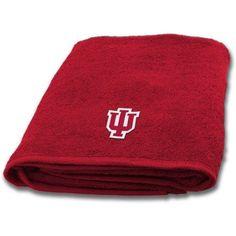 Ncaa Applique Bath Towel, Indiana, Multicolor