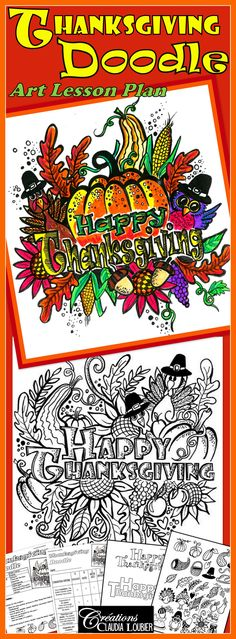 Celebrate Thanksgiving by creating a magnificent work of art in a fun way with your students.  They will create original artwork with very simple materials. You can transform this art into a Thanksgiving card.  This activity allows students to be very creative!   Level: -Grade 2 and up  Technique: -Drawing