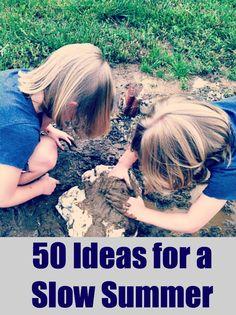 50 Slow Summer Ideas Free Printable