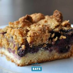 These blueberry crumb bars combine the best of crumb bars and crumbles for an even better taste and texture.