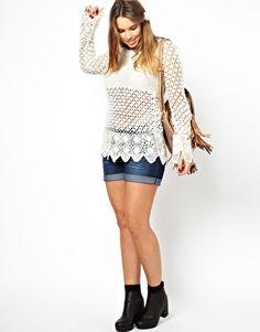 ASOS CURVE Crochet Village Jumper; Plus Size 20-26 £40.00