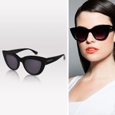 Ultra-vampy, super-glossy sunglasses rock all the shades of the rainbow. Get them all and break out of your black rut.