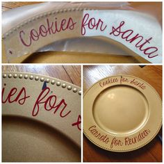 How to (Perfectly) Decorate Charger Plates with Silhouette - Silhouette School Charger Plate Crafts, Charger Plates, Silhouette School, Silhouette Vinyl, Silhouette Cameo Tutorials, Silhouette Projects, Christmas Vinyl, Christmas Crafts, Christmas Plates