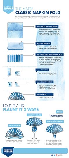How to fold a napkin for the Holidays!