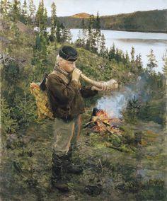 Akseli Gallen-Kallela, The Sheperd of Paanajärvi, 1892, Oil on canvas, 84 x 68 cm, Private Collection