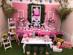 Troll Party, Pig Party, Baby Party, Bolo Da Peppa Pig, Cumple Peppa Pig, Cumple George Pig, Peppa Big, Birthday Party Decorations, Birthday Parties