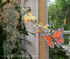 Gilded Petals Enchanted Forest Theme Centerpiece Detail
