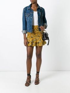 Isabel Marant, Dress Me Up, Denim, Yellow, My Style, Skirts, Jackets, Stuff To Buy, Clothes