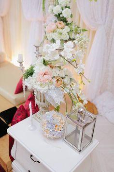 Pomander Kudusama flower ball. DIY project for wedding decor.