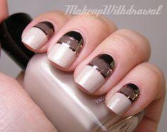 Uñas elegantes con cintas - Elegant nail design