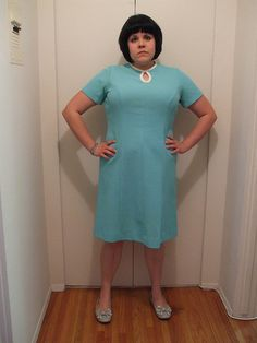#OOTD: April 22, 2009 Mint Green Dress, April 22, Plus Size Girls, Funky Fashion, High Neck Dress, Ootd, Chic, My Style, Dresses