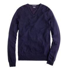 Slim cashmere V-neck sweater