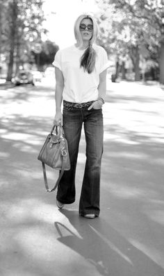 Jeans & a White T Outfit No. 2  ~ Classic Style