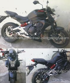 Kawasaki ER6N Red - Full Body Black Mate Wrapp