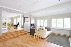 Bamboo flooring is becoming one of the most popular flooring options today. Learn more about the pros and cons of bamboo flooring. Revit, Decor Scandinavian, Types Of Flooring, Flooring Options, Living Room Paint, Interior Design Tips, Design Ideas, Design Interiors, Design Trends