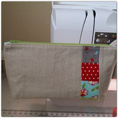 Quilt Binding Bag/ Cosmetic Bag/ Pouch