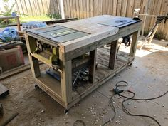 My workbench build with built-in table saw and router