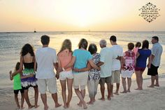 The Gladowski Family watching the sunset on Aruba