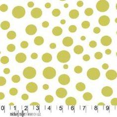 Michael Miller House Designer - Dots - Lolli Dot in Limeade