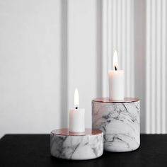 Chunk of Marble candle holder by Menu