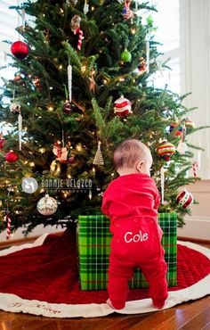 My baby's first Christmas :) this is too cute