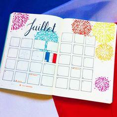 Page mensuelle : Juillet ✒ Retrouvez toutes les photos de mon #bulletjournal sur Pinterest ou Instagram @lesoucidudetail