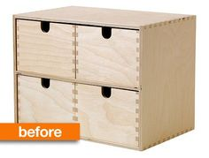 Before & After: From IKEA Basic to a Vintage-Look Card Catalog — The Painted Hive