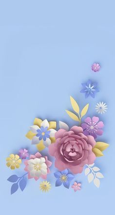 40 Ideas For Wallpaper Backgrounds Pastel Floral Pretty Wallpapers, Trendy Wallpaper, Colorful Wallpaper, Flower Wallpaper, Cool Wallpaper, Pastel Floral, Pastel Flowers, Diy Paper, Paper Art