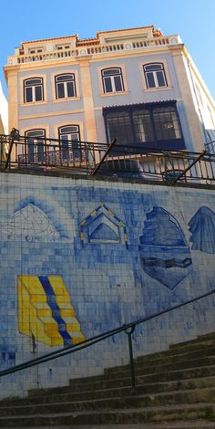 Mural on the Bairro Alto. Many more photos here: http://bbqboy.net/photo-essay-lisbon-portugal-happy-leave/ #lisbon #portugal