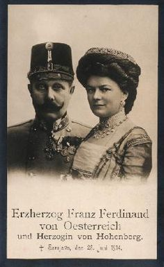 Archduke Franz Ferdinand and his wife Sophie arrived in Sarajevo on 28 ...