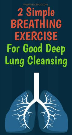 The best way to improve your lung health is to perform a few breathing exercises. Here is the simple breathing exercise for good deep lung cleansing. Lung Cleanse, Lung Detox, Body Cleanse, Liver Detox, Increase Lung Capacity, Health Planner, Deep Breathing Exercises, Breathing Techniques, Natural Health Remedies