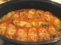 Stuffed Cabbage Rolls - comfort food at its finest! Can't wait to try this recipe out.