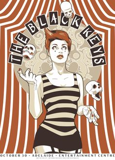 the black keys music gig posters | The Black Keys Concert Poster by Jo Ley
