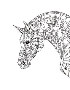 decorative-horse-profile-for-print.jpg (JPEG Image, 2550 × 3300 pixels)