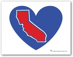 The Lob City California Heart Decal - pinned by pin4etsy.com